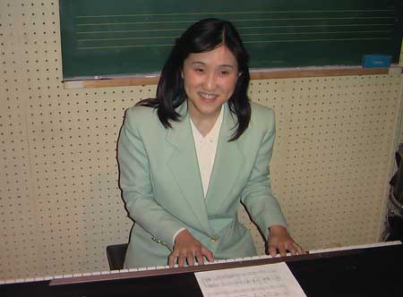 ピアノの練習風景